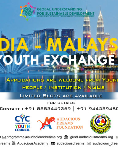 International Youth Exchange Programme India – Malaysia