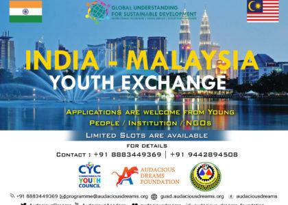 International Youth Exchange Programme India – Malaysia