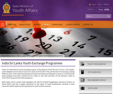 state ministry of YOUTH AFFAIRS News copy